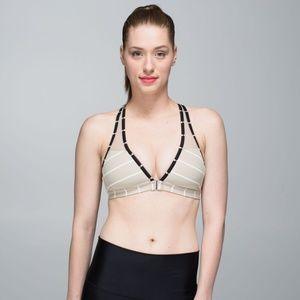 Lululemon Easy Breath Bra-Size 6-Cayman Stripe